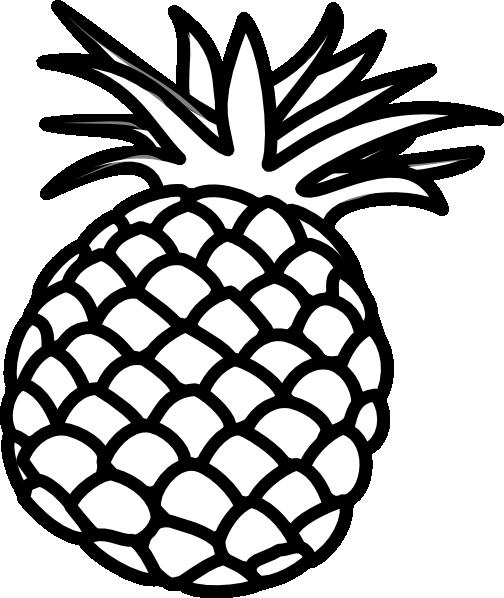 Outline clip at clker. Pineapple clipart line art