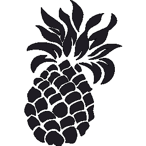 Black and white gclipart. Pineapple clipart logo