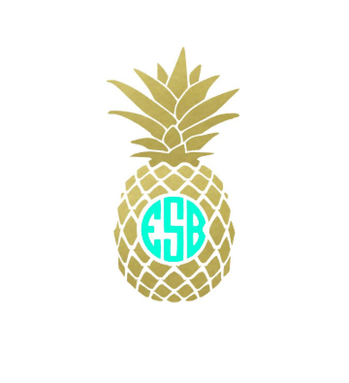 Pineapple clipart logo. Resolution silhouette