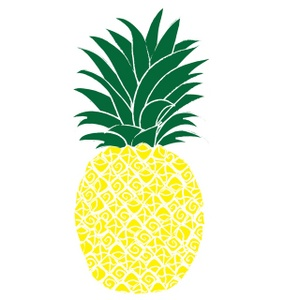 Pineapple clipart logo. Vector panda free images