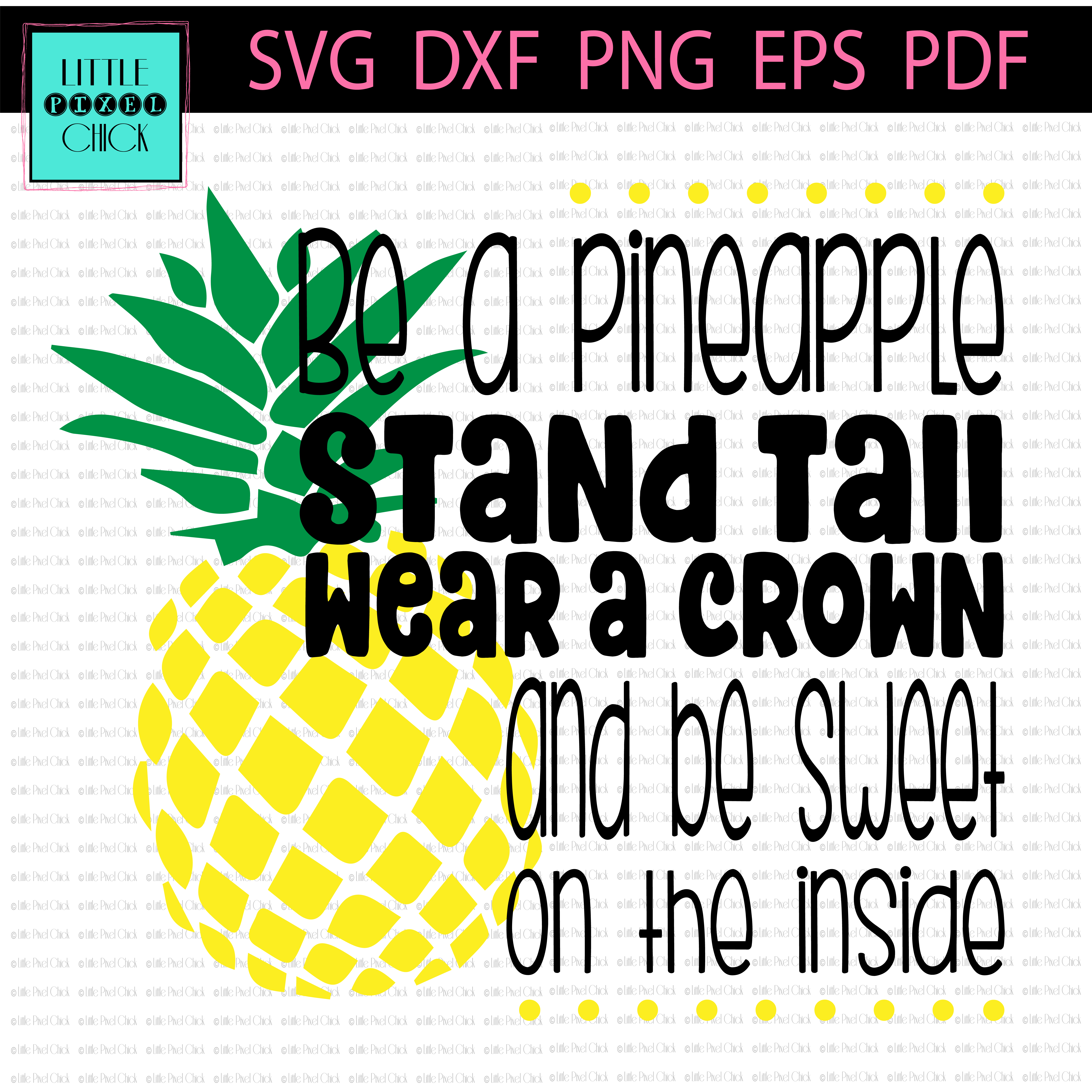 Pineapple clipart monogram. Be a sofontsy