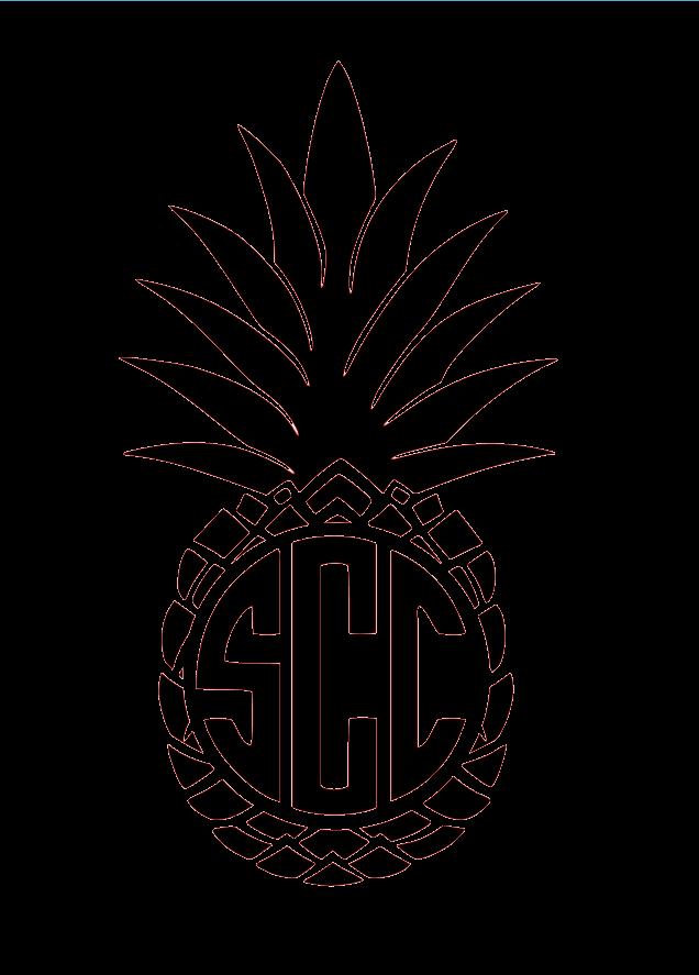 Pineapple clipart monogram. Southern charm chic pineapplemonogram