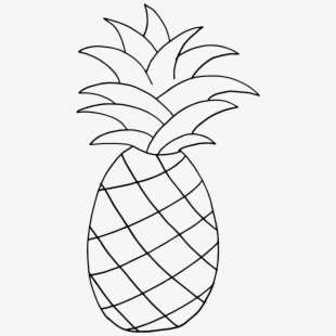 Png cliparts cartoons free. Pineapple clipart outline