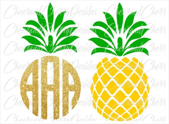 Pineapple clipart printable. Birthday cake topper svg