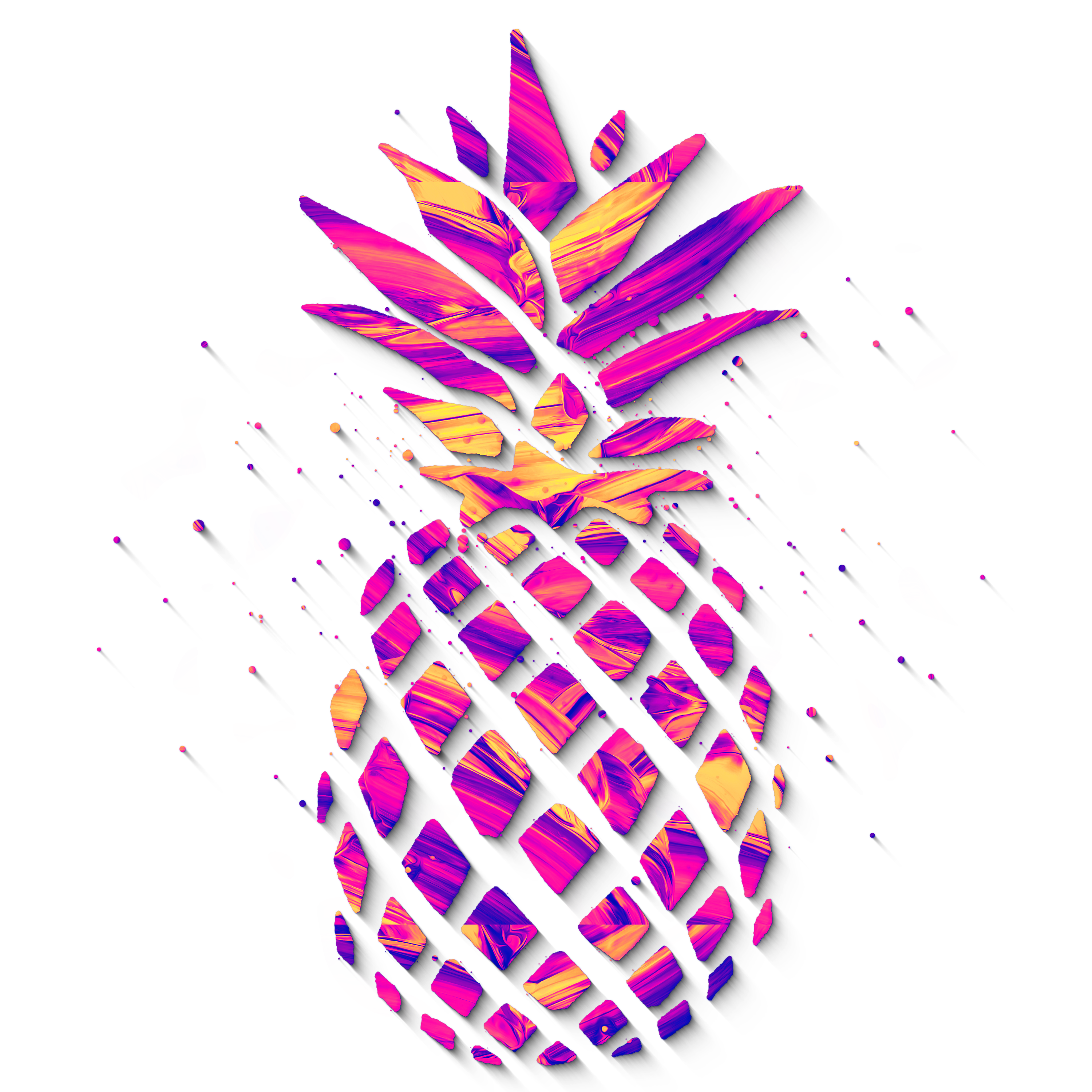 Pineapple clipart purple. Abstract pinaple digital x