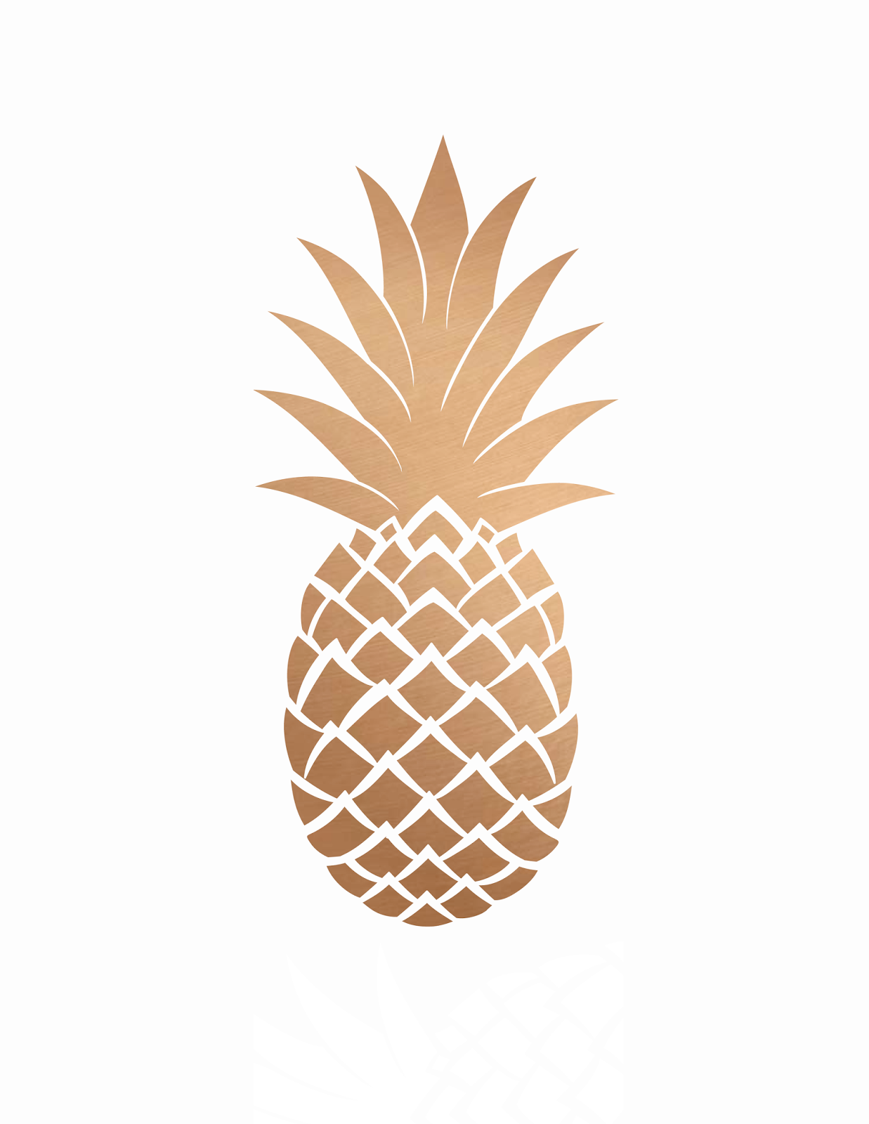 Pineapple clipart rose gold. Free printables add some