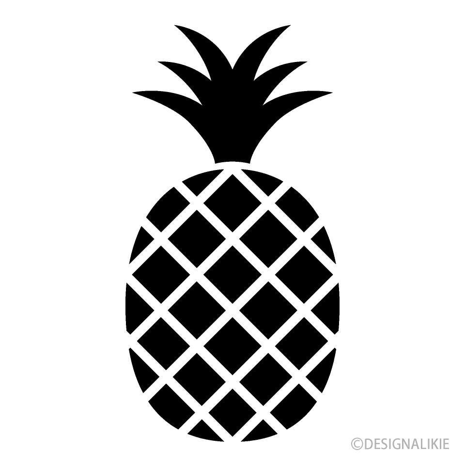 Pineapple clipart simple. Icon free picture illustoon