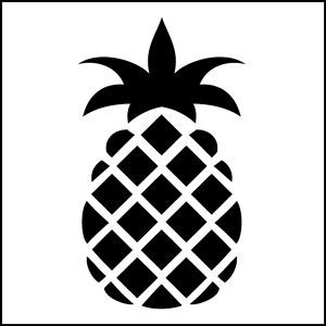 Pineapple clipart stencil. Planes art
