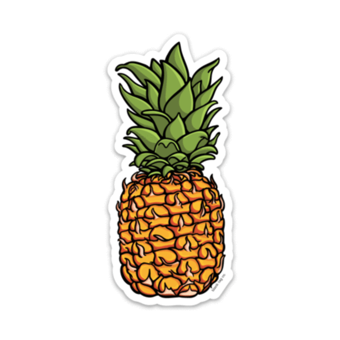 The . Pineapple clipart sticker