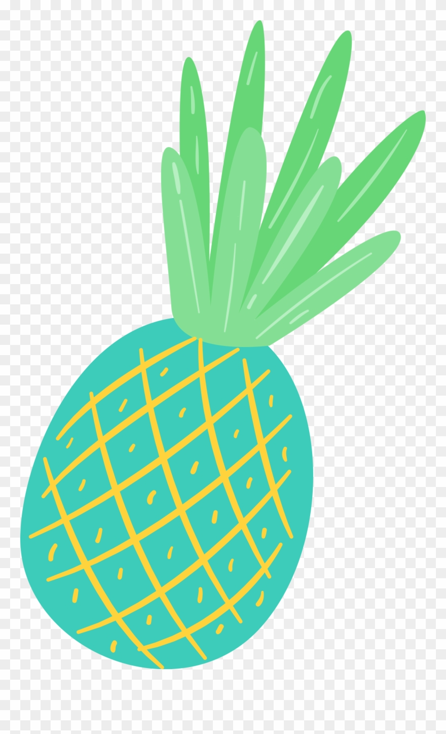 Leave and png download. Pineapple clipart summer