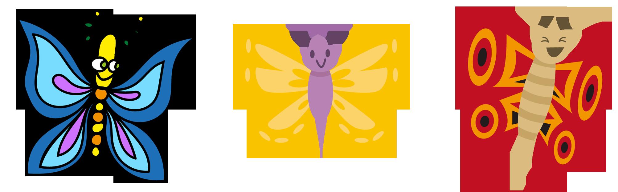 Pineapple clipart symmetrical. Butterfly cartoon clip art