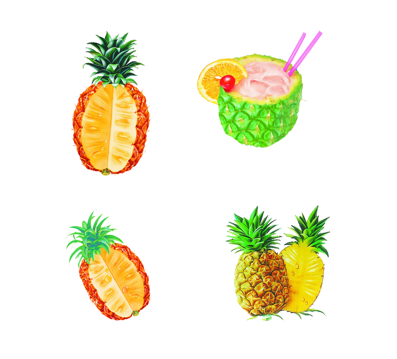Boluo fan fruit dashu. Pineapple clipart tropical