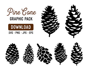 Pinecone clipart svg. Pine cone etsy