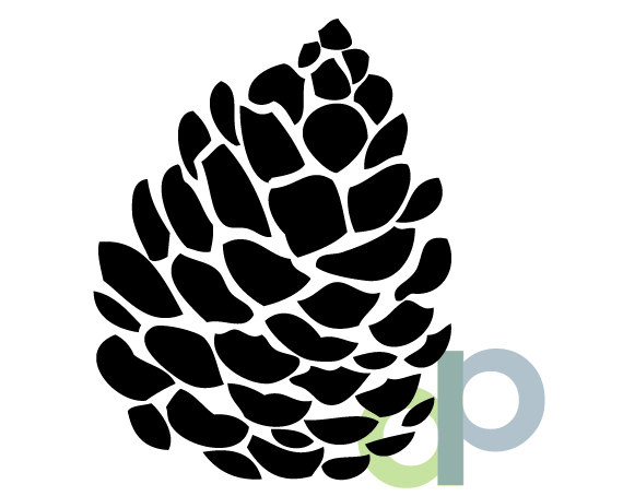 Pine cone print and. Pinecone clipart svg