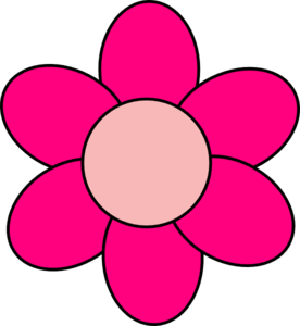 Flower clip art at. Pink clipart