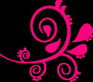 Pink clipart. Swirl paisley clip art