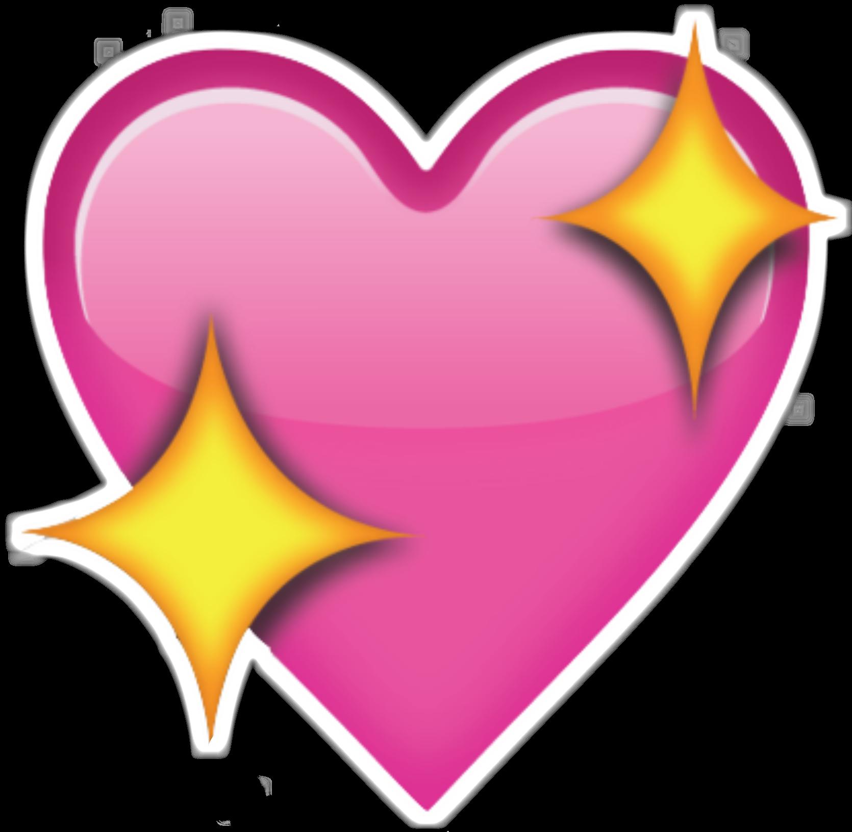 Sparkle clipart border. Pink emoji heart png