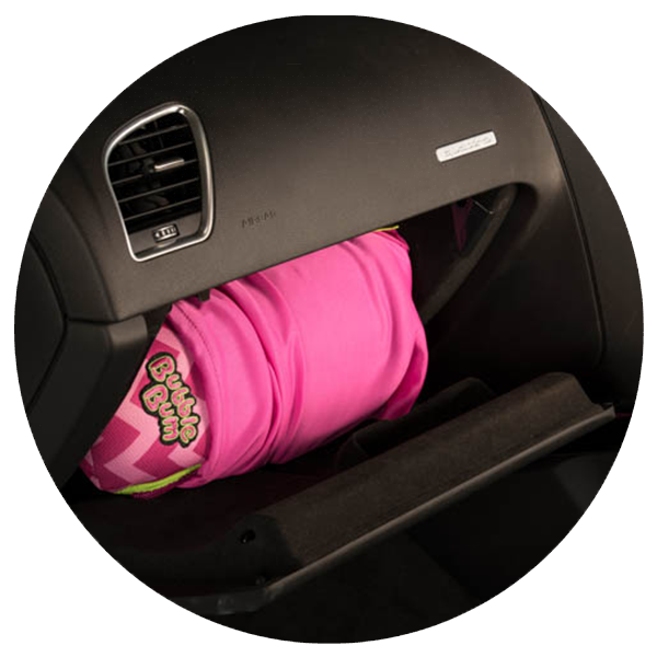 Bubblebum products for travelling. Pink clipart car seat