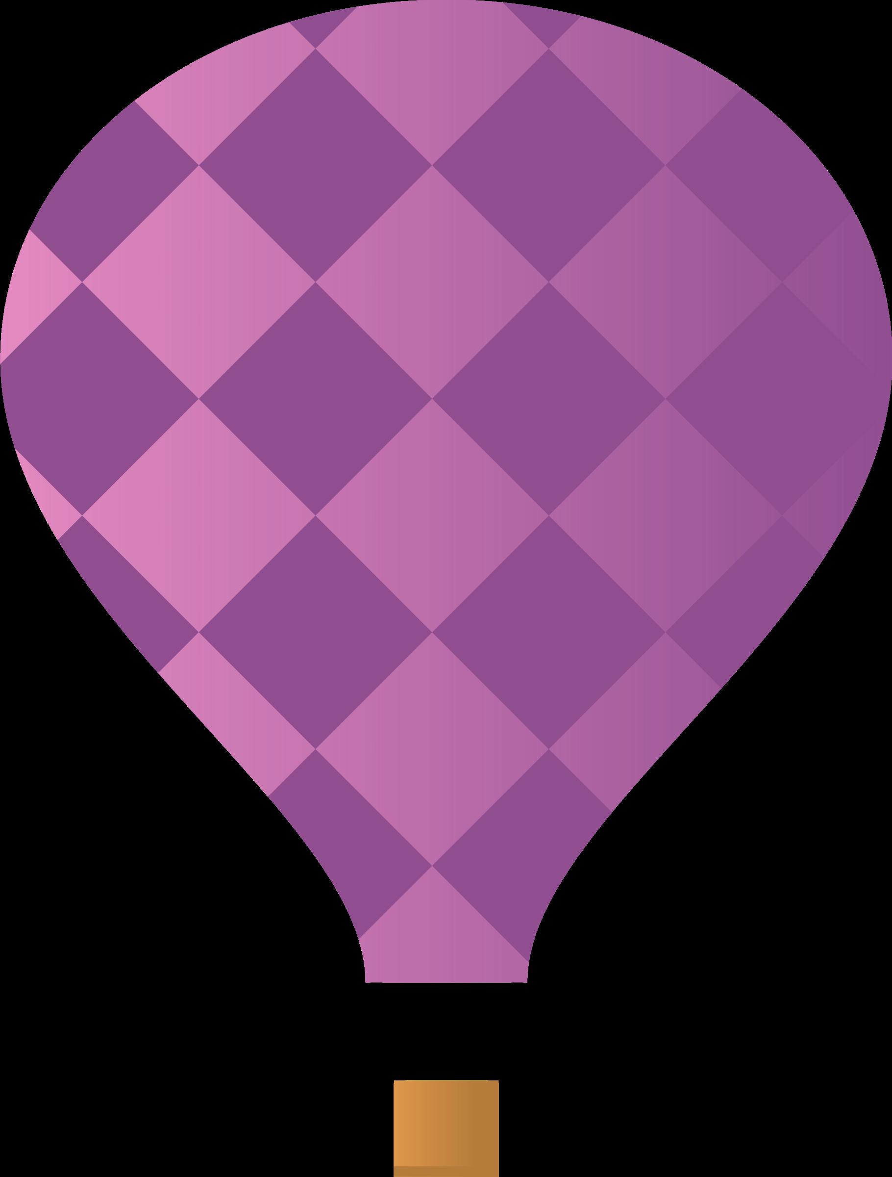 . Purple clipart hot air balloon