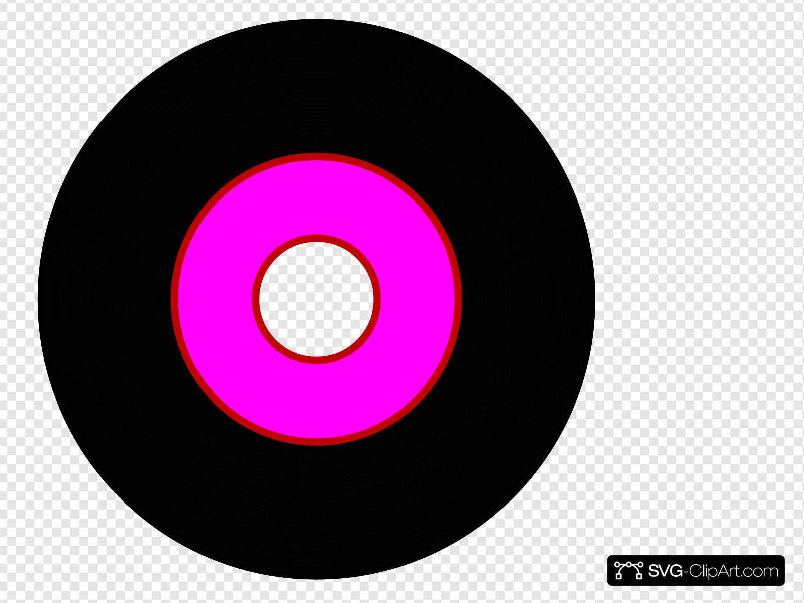 Record clipart pink. Black vinyl clip art