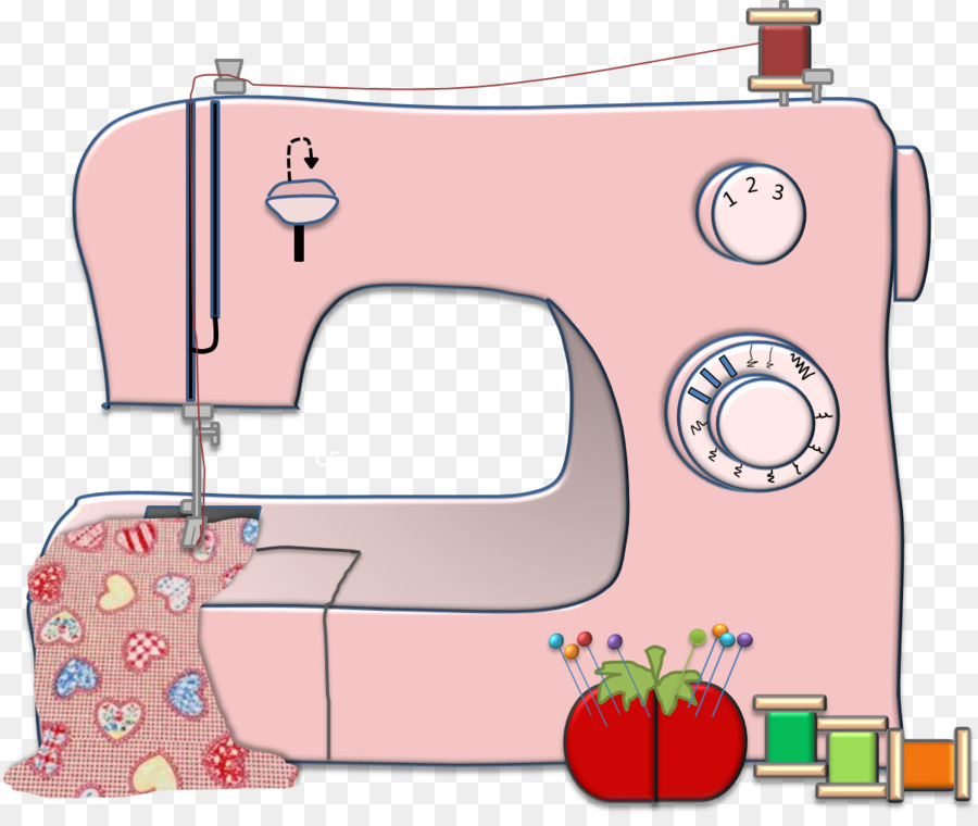 Background product transparent . Sewing clipart pink
