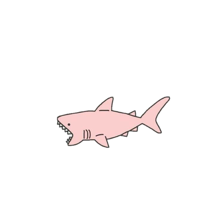Sticker pastel by moshimarie. Pink clipart shark
