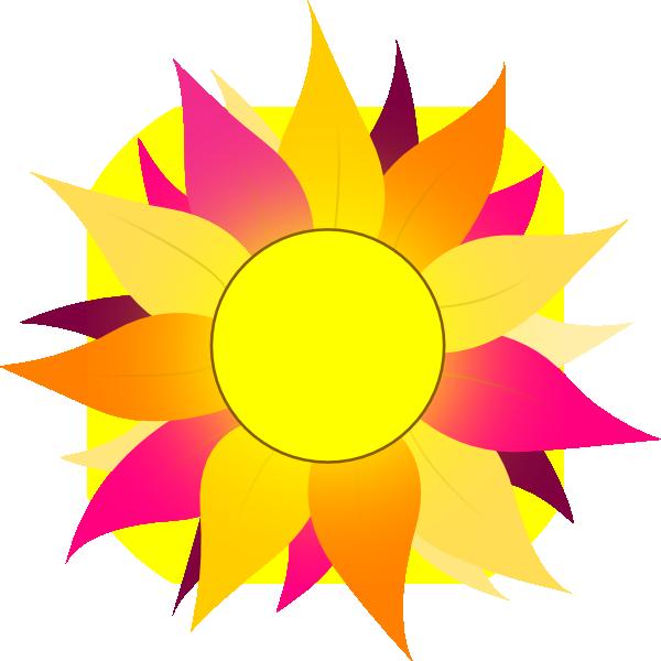 Pink clipart sunflower. Wild clip art at
