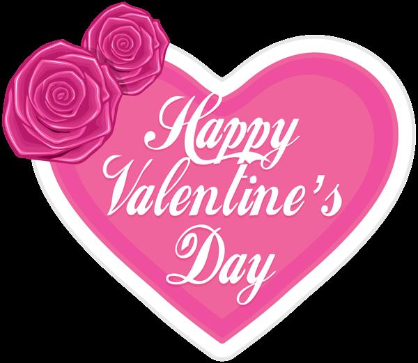 Happy valentine s heart. Pink clipart valentines day