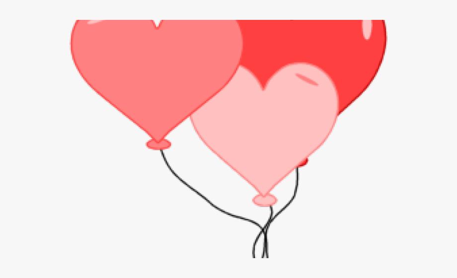 Valentine balloon cliparts st. Pink clipart valentines day