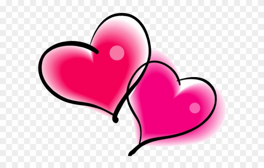 Pink clipart valentines day. Heart double valentine s