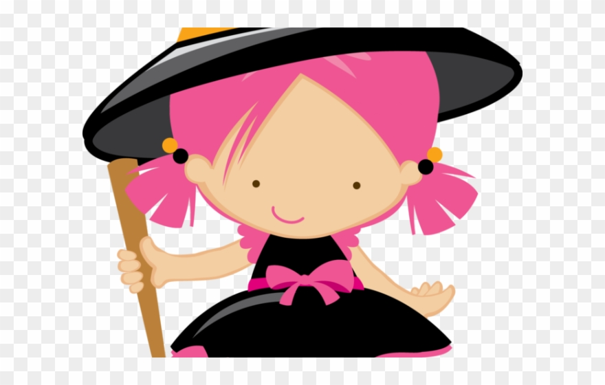Witch clipart pink. Hat kawaii diy clip