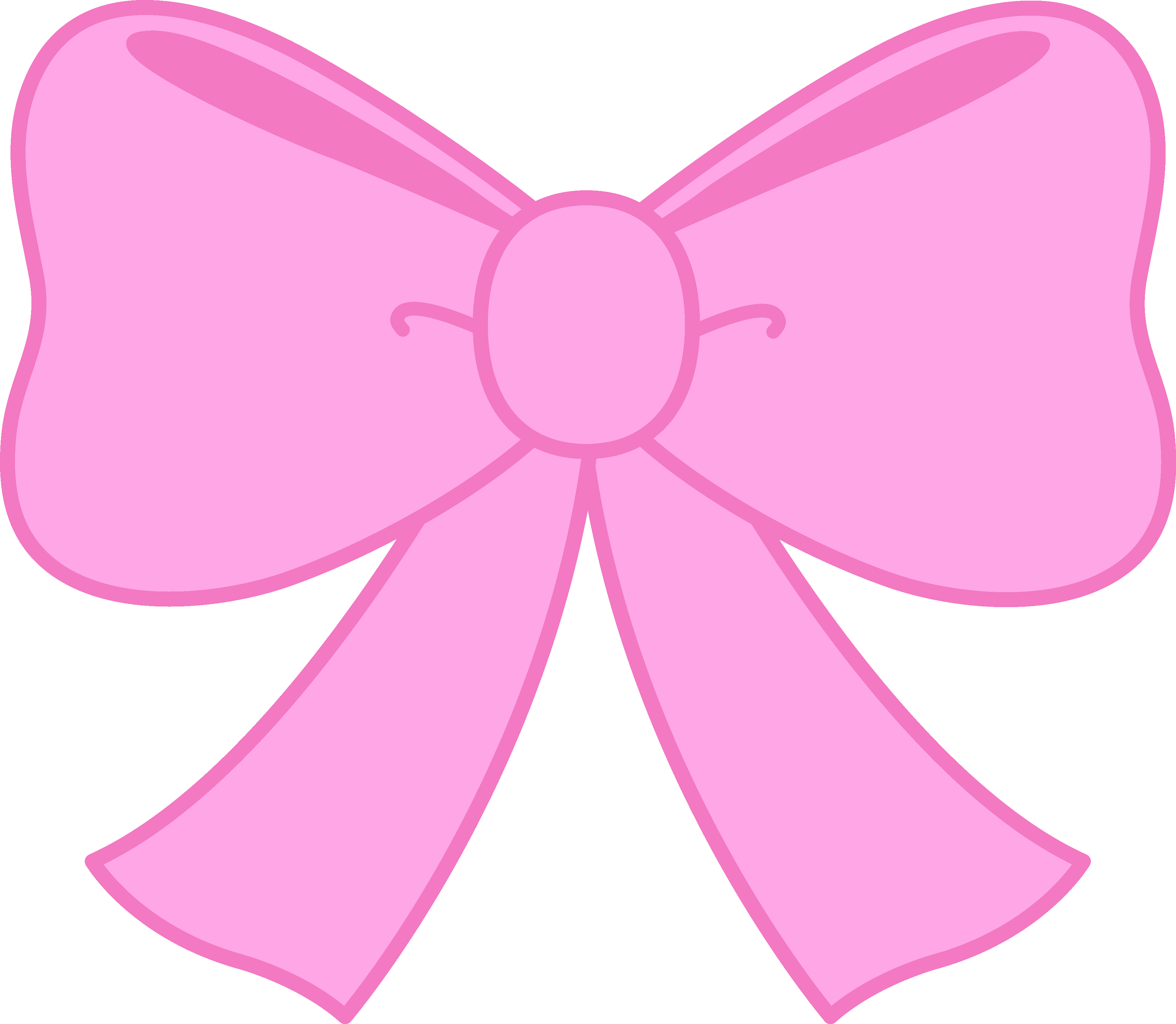 Pink bow free clip. Bows clipart cute