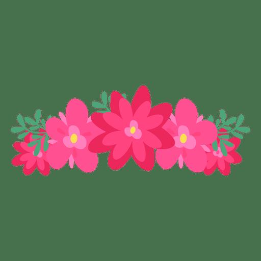 Red transparent svg vector. Pink flower crown png