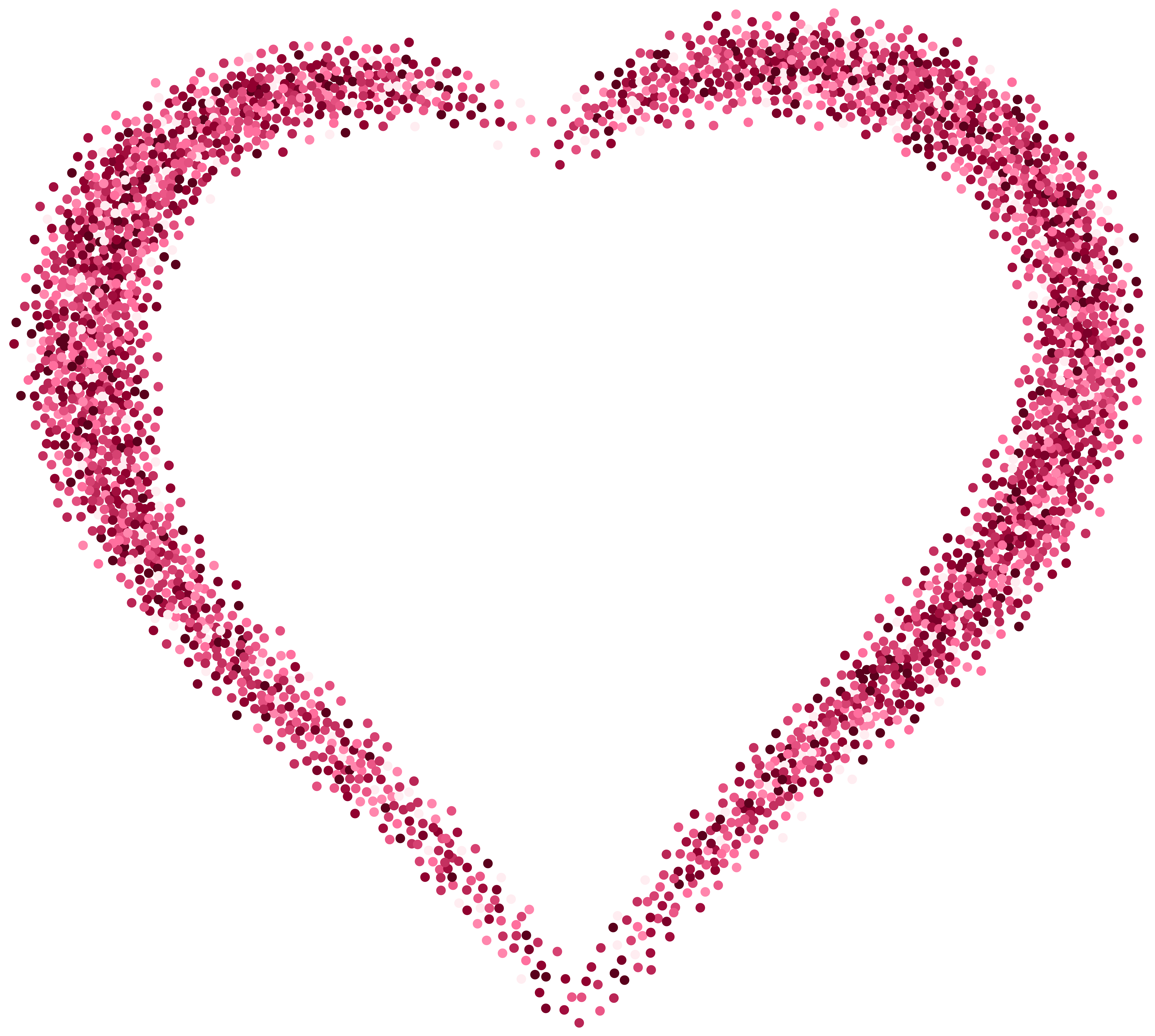 Pink hearts png. Decorative heart image gallery
