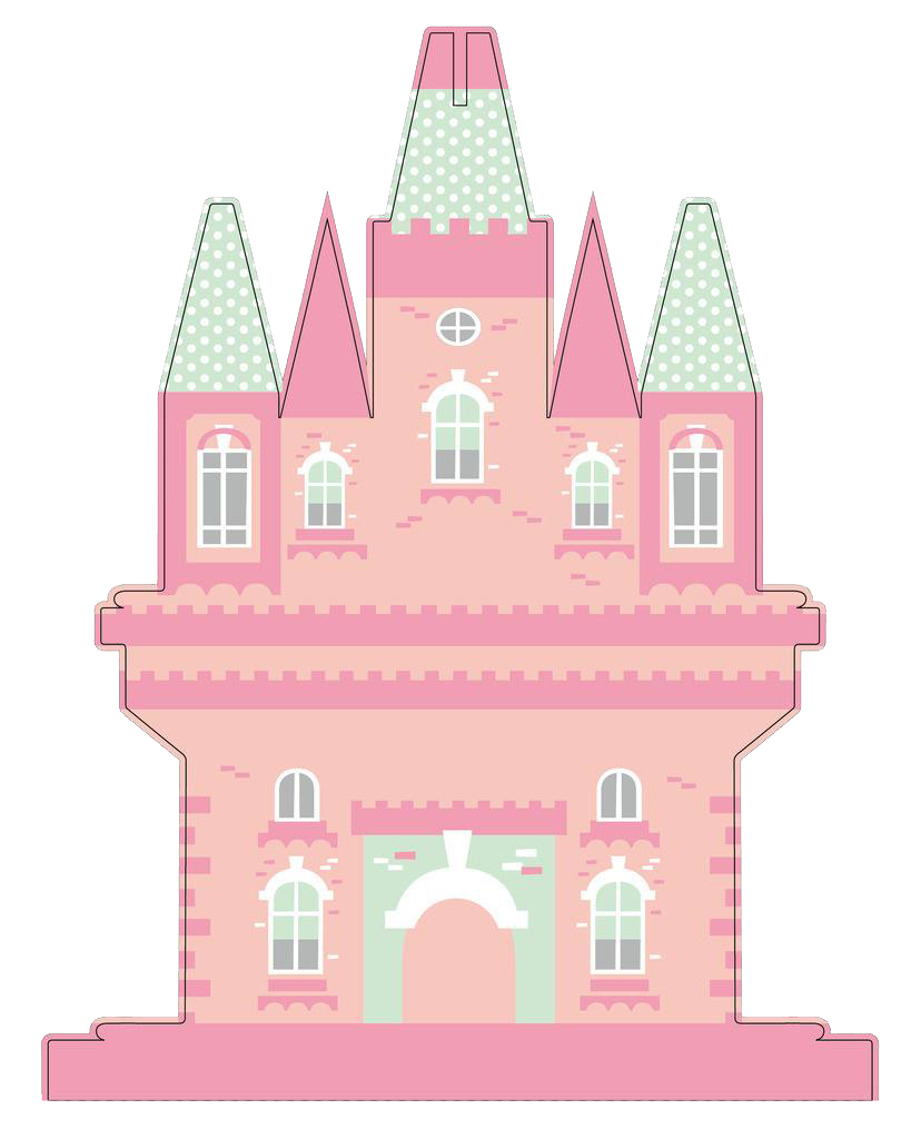 Pink house png. Cartoon castle disney transprent