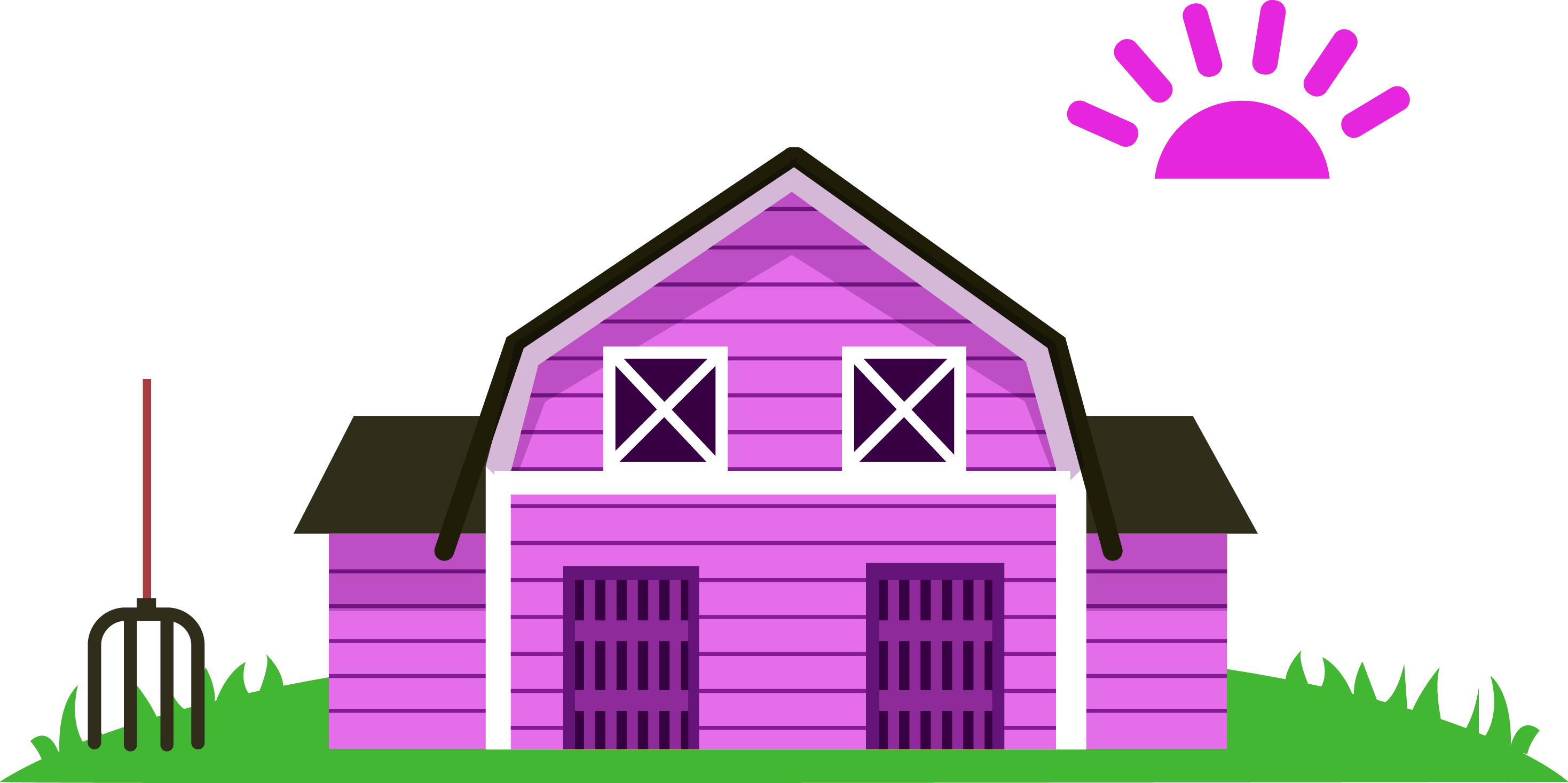 Cartoon agriculture purple transprent. Pink house png