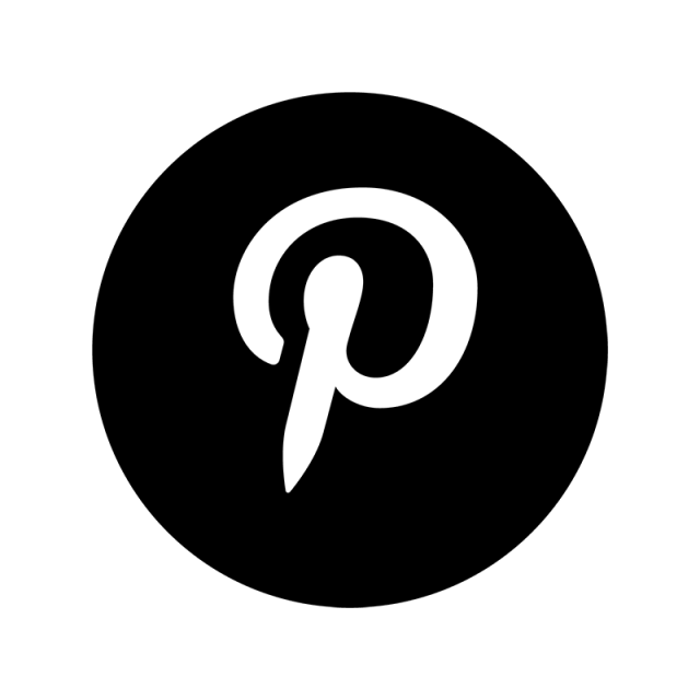 Pinterest icon png. Black amp white social