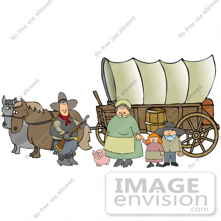 Family . Pioneer clipart