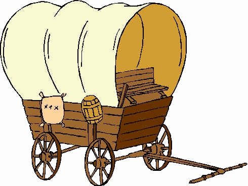 Covered inspirational oregon trail. Wagon clipart pioneer