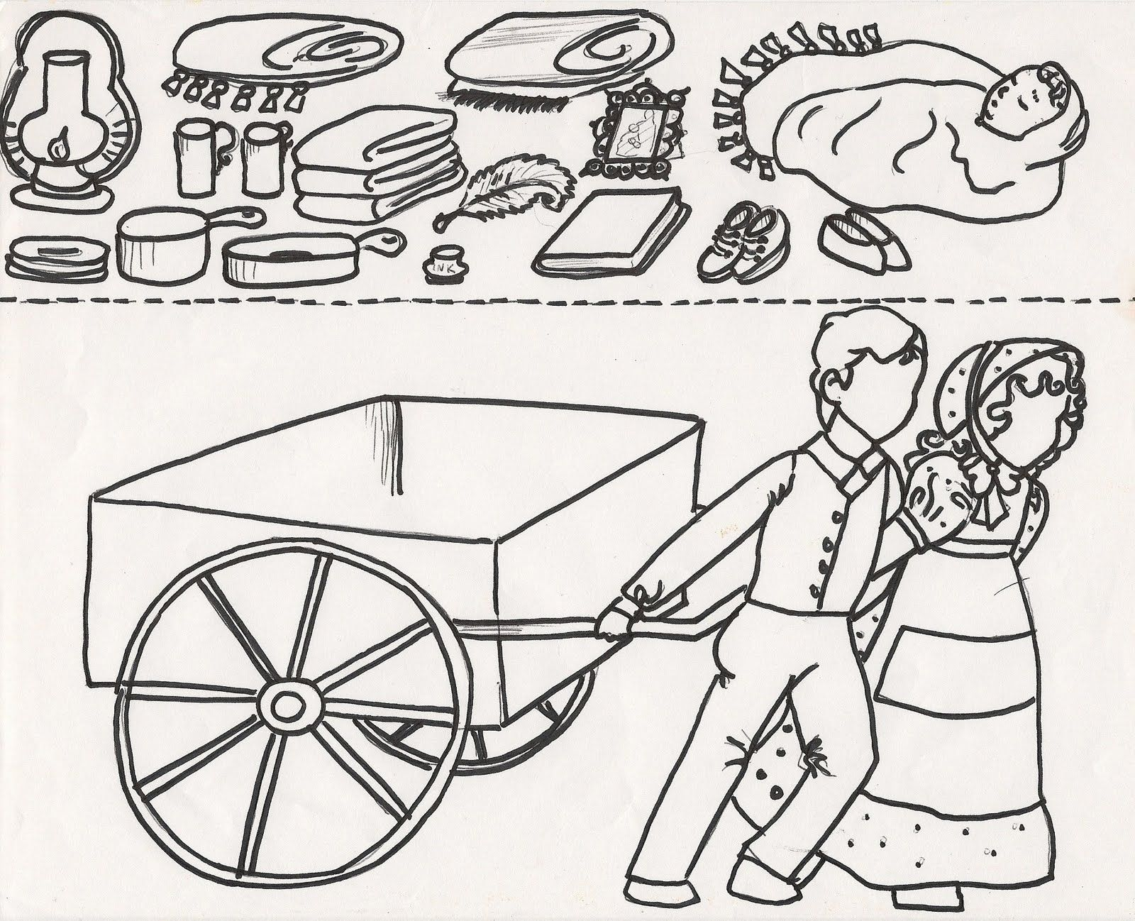 Pioneer clipart. Handcart google search young