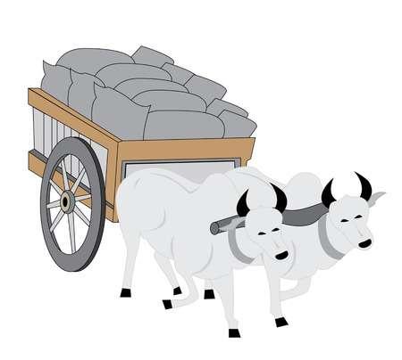 Pioneer clipart bullock cart. Free bull download clip