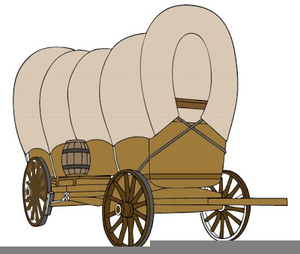Covered free images at. Wagon clipart pioneer
