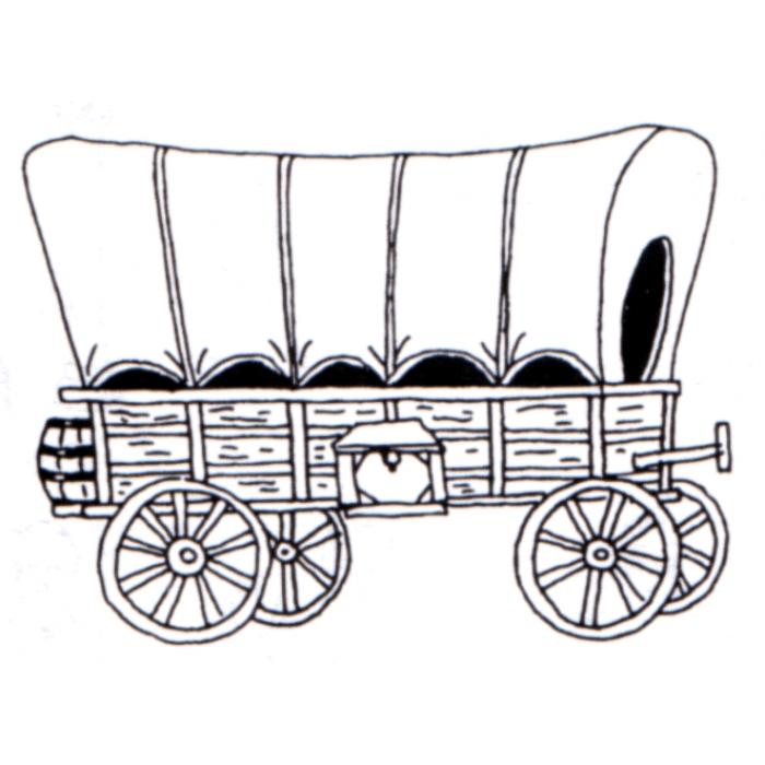 Covered clip art library. Wagon clipart conestoga wagon