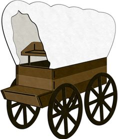 Wagon clipart westward movement.  covered clipartlook