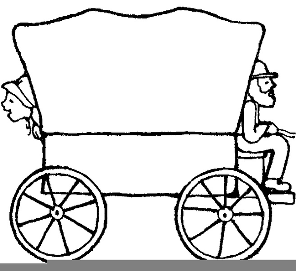 Wagon clipart pioneer. Drawing free download best