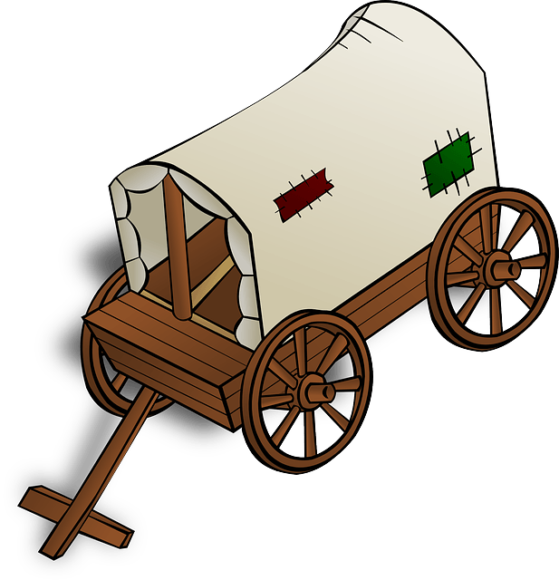 Wagon clipart pulled. Covered at getdrawings com