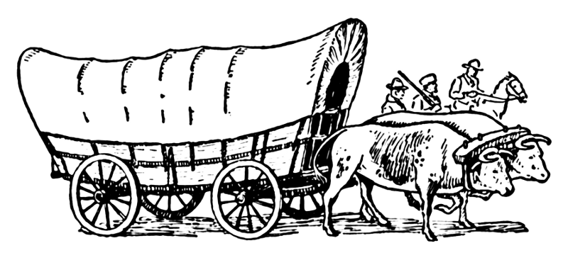 Wagon clipart history.  covered clip art