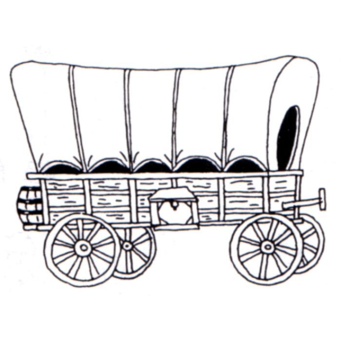 Wagon clipart wagon oregon trail. Covered illustration birthday party