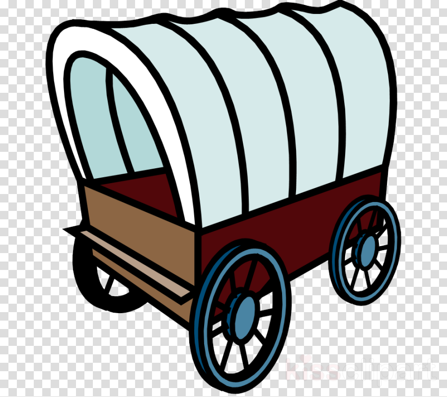 Bicycle cartoon product car. Wagon clipart wagon oregon trail