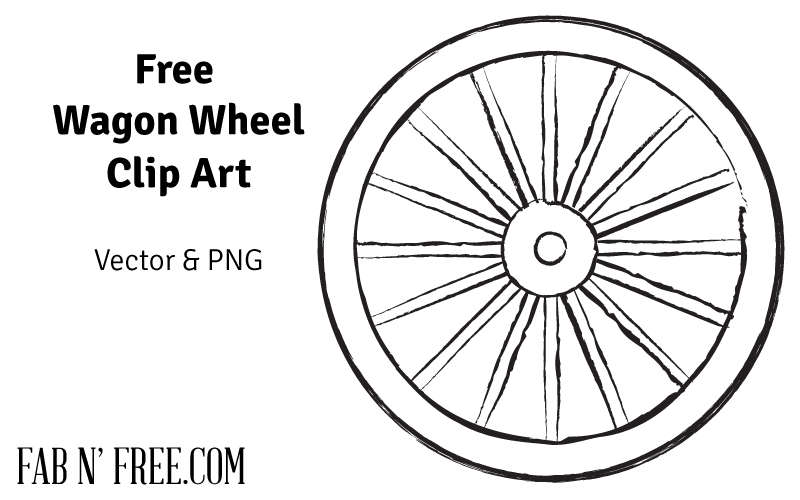 Free pioneer quote wagon. Wheel clipart black and white